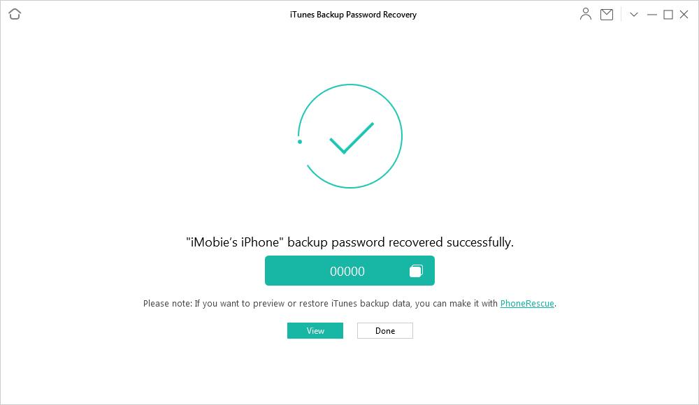 Successfully Retrieve iTunes Backup Passcode via AnyUnlock