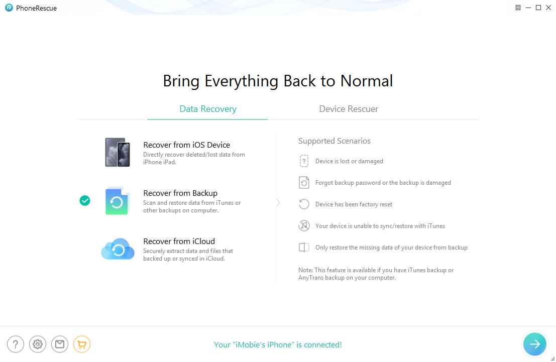 How to Unlock iPhone Backup with a Free Way - Step 1