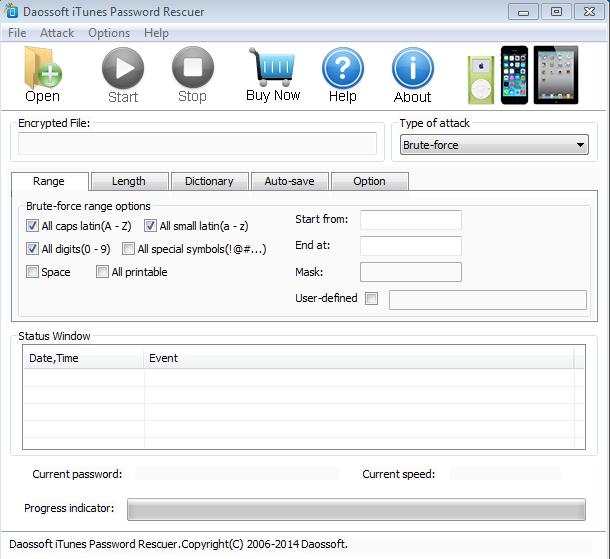 Daossoft iTunes Password Rescuer Screenshot