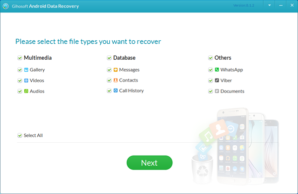 Gihosoft Android Data Recovery Screenshot