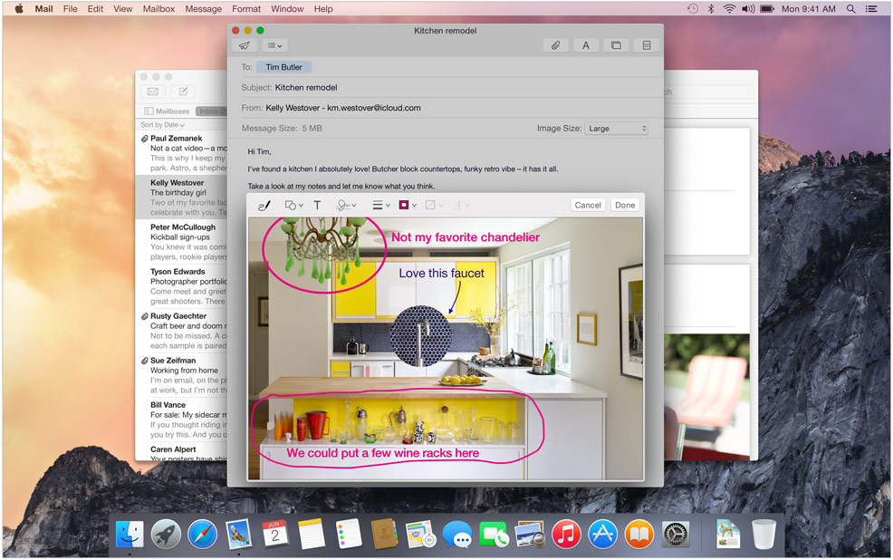 Mac OS X 10.10 New Feature – Mail Makeup
