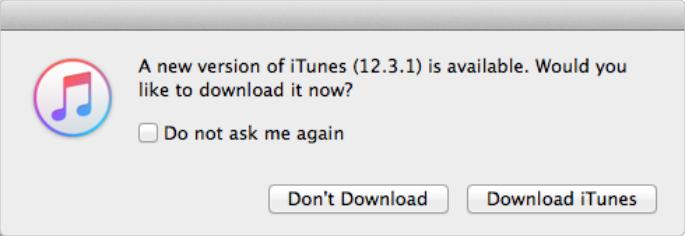 iTunes 12.3.1 Update