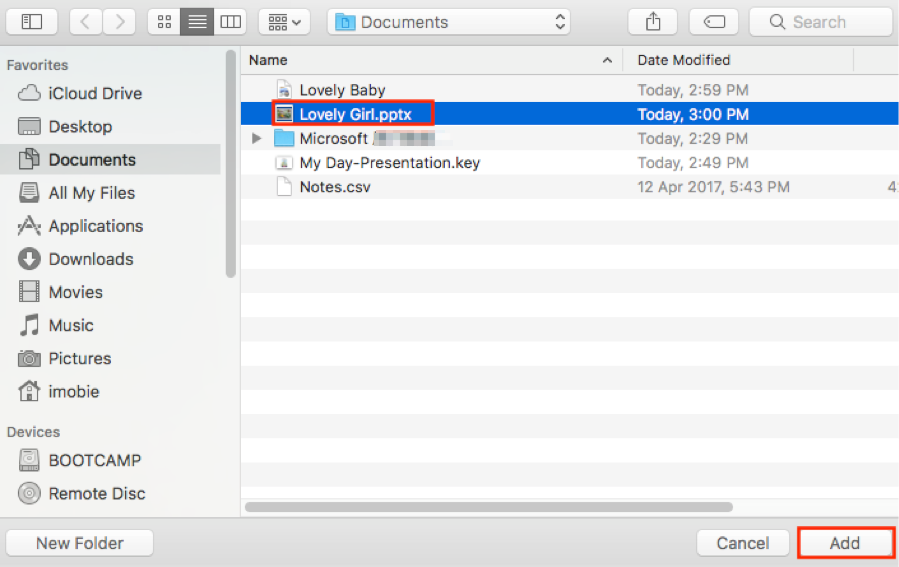 How to Transfer PowerPoint Presentation to iPad via iTunes - Step 2
