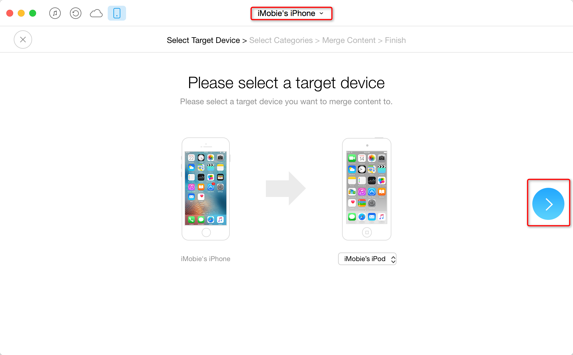 How to Transfer App Info to A New iPod Touch - Step 3