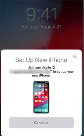 Use Quick Start to set up a new iPod Touch