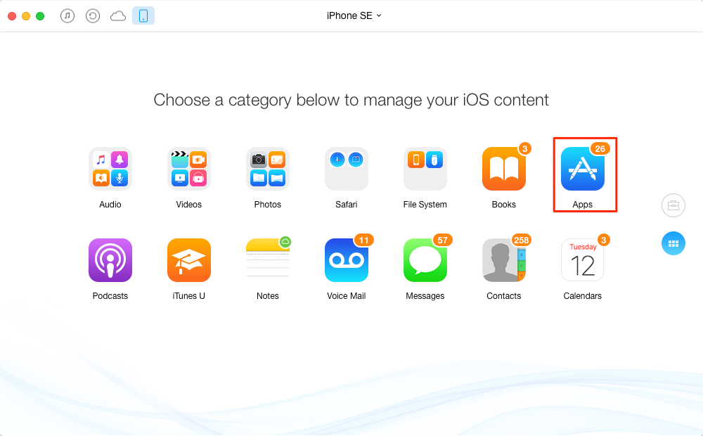 How to Transfer Apps from Computer to iPhone iPad – Step 2