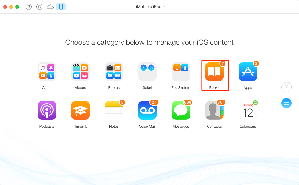 How to Transfer Books from iPad to iPhone – Step 2