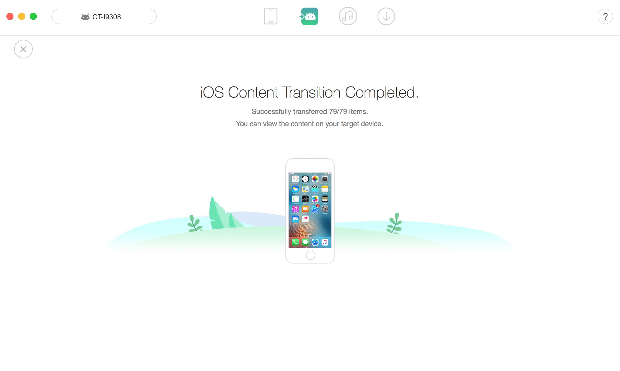 Transfer Calendar from iPhone to Calendar – Step 3