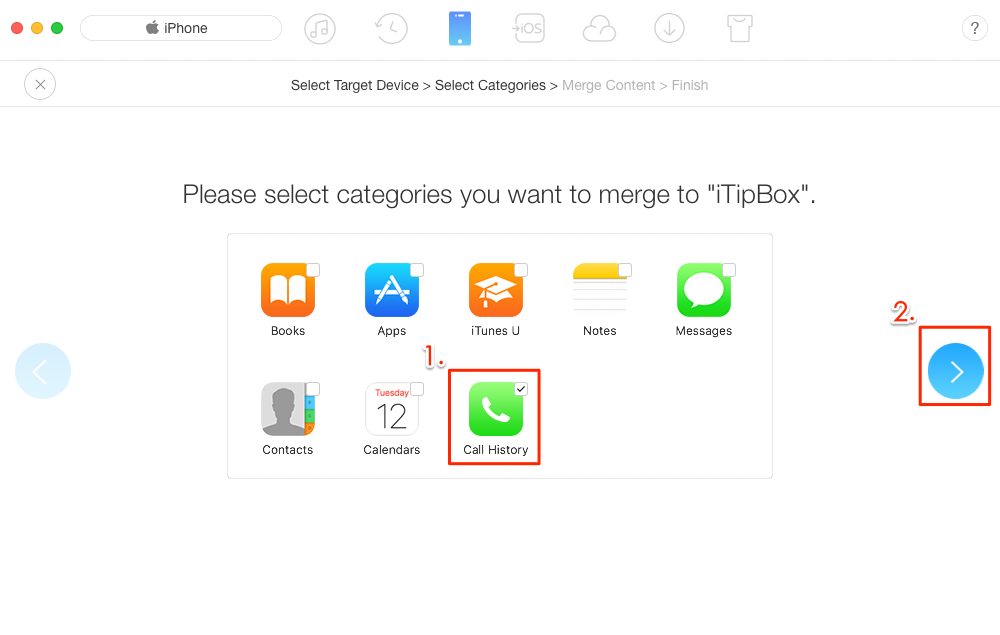 Transfer Call History from iPhone to iPhone with AnyTrans – Step 4