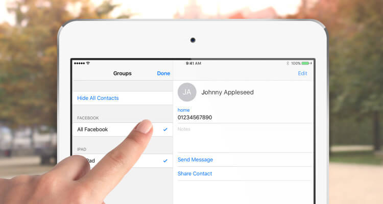 Transfer iPad Contacts to iPhone/iPod