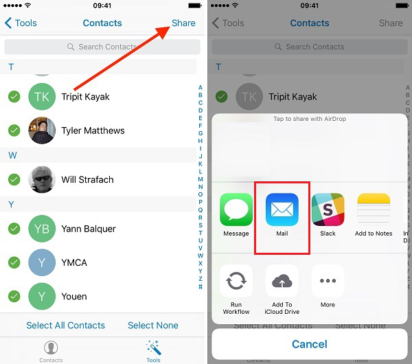 How to Transfer Contacts from iPhone to Huawei via Email