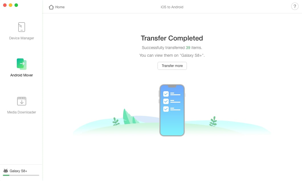 How to Transfer Contacts from iPhone to Huawei via AnyTrans - Step 3