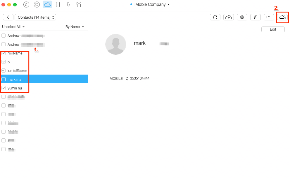 Transfer Contacts Between iCloud Accounts – Step 3