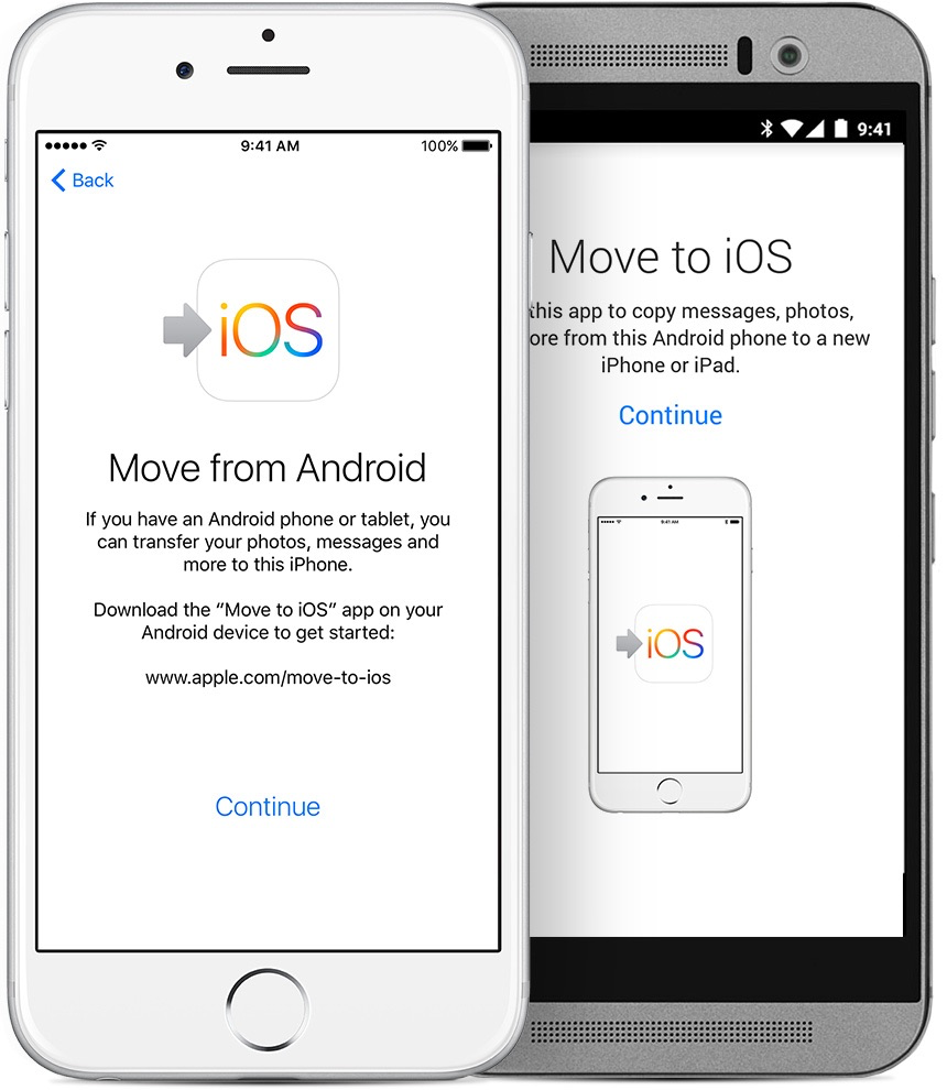 Transfer Data from Android to iPhone 7 with Move to iOS