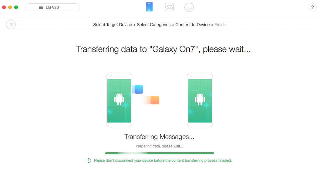 How to Transfer Data from LG to Samsung - Step 4