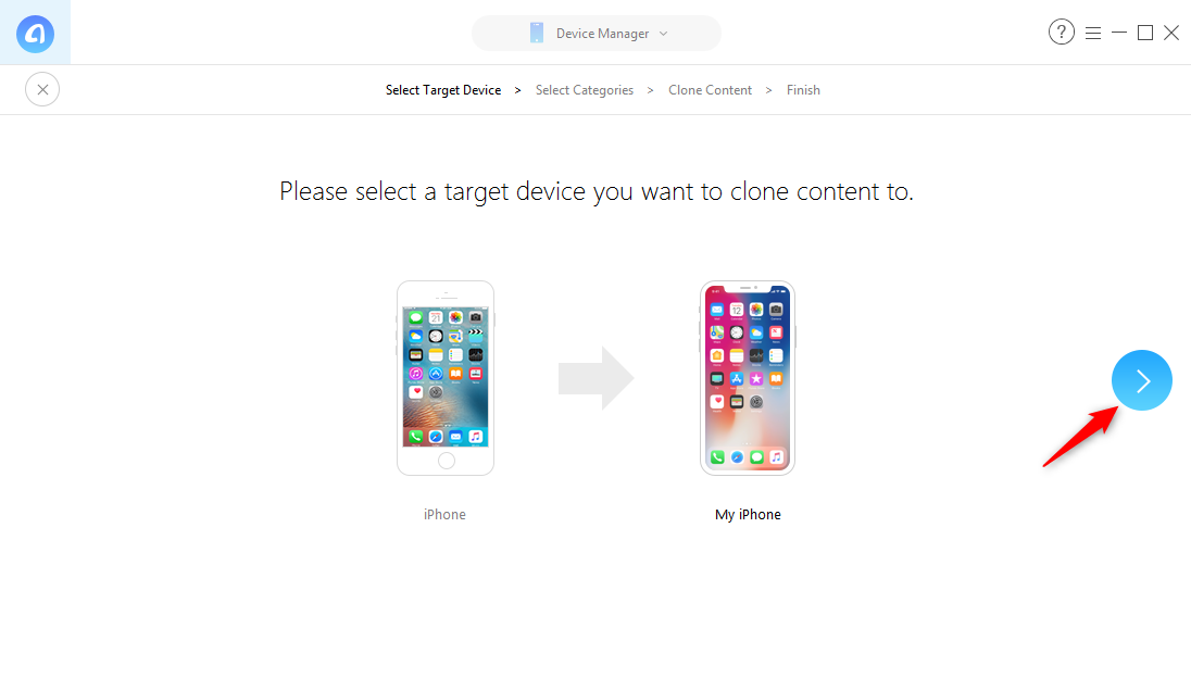 How to Transfer Data to New iPhone without iTunes/iCloud - Step 3