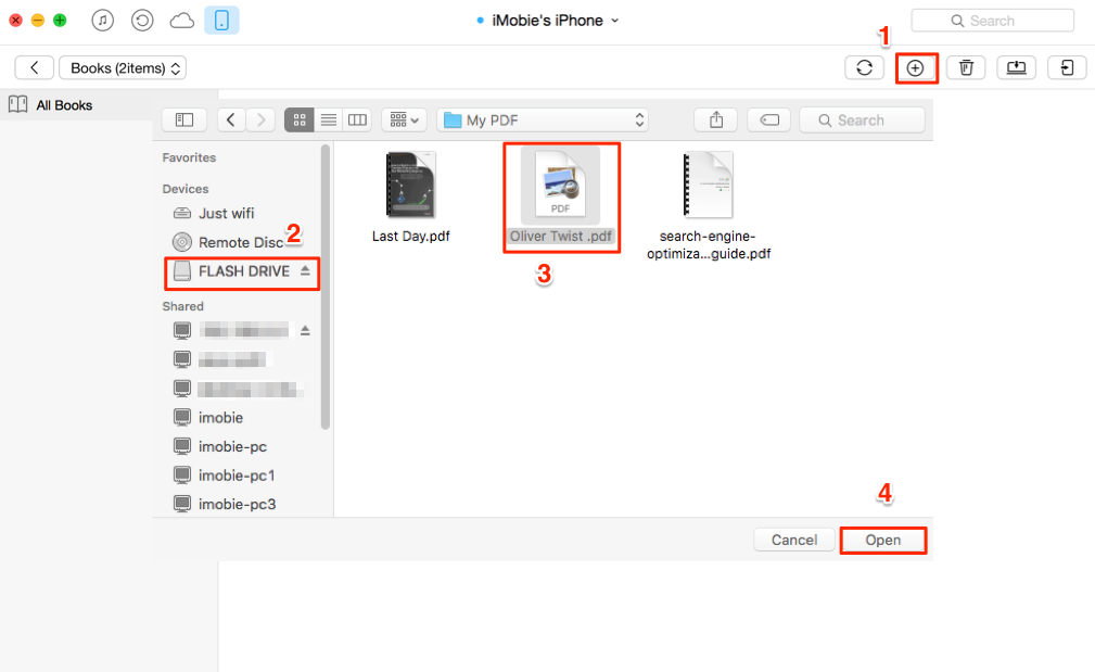 How to Transfer Books from Flash Drive to iPhone/iPad – Step 2