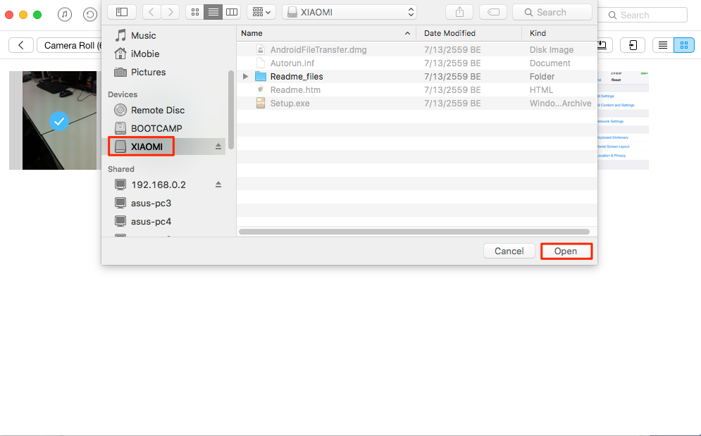 How to Transfer Selected Files from iPhone/iPad to External Hard Drive – Step 2
