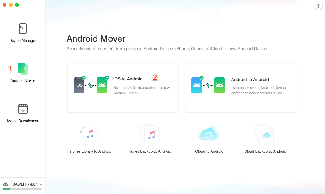How to Transfer Files from iPhone to Android - Step 1