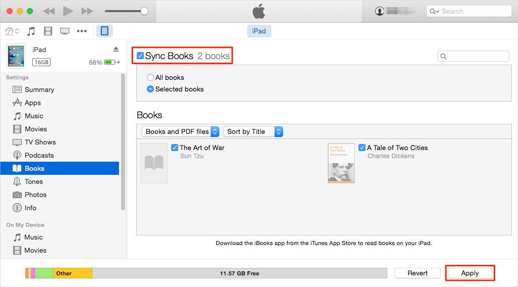 Transfer Files from Mac to iPad with iTunes