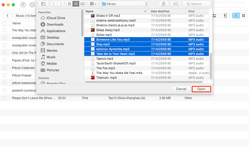 How to Transfer Files from Mac to iPhone – Step 3