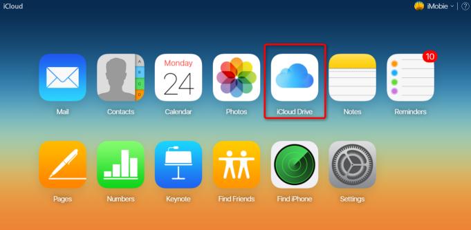 How to Transfer Files to iCloud via icloud.com - Step 2