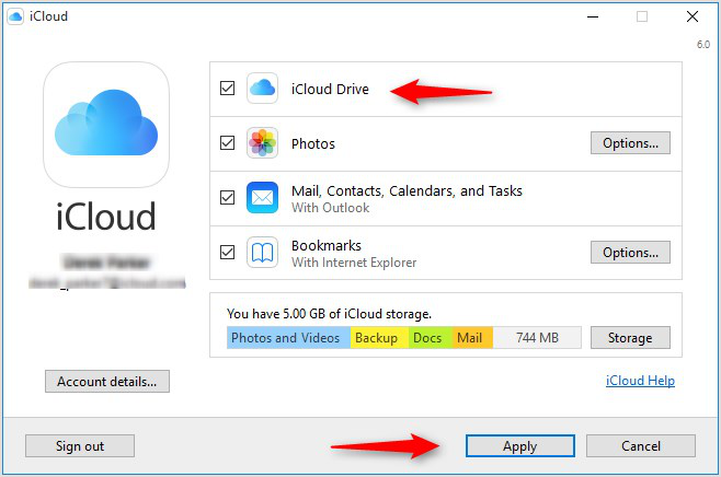 How to Transfer Files to iCloud on Computer - Step 2