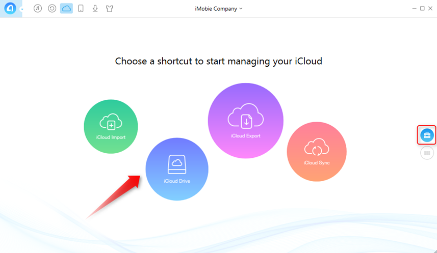 How to Transfer Files to iCloud with AnyTrans - Step 2
