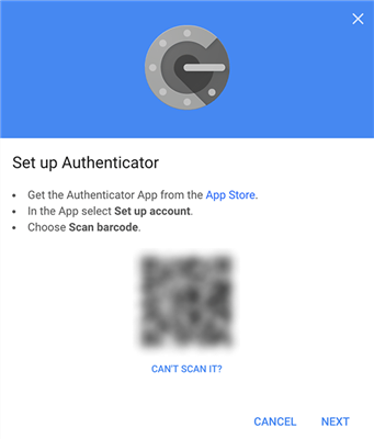 Scan barcode in Google Authenticator on the new iPhone