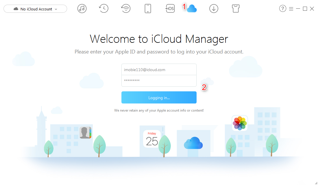 How to Transfer Data from iCloud to iPhone - Step 1