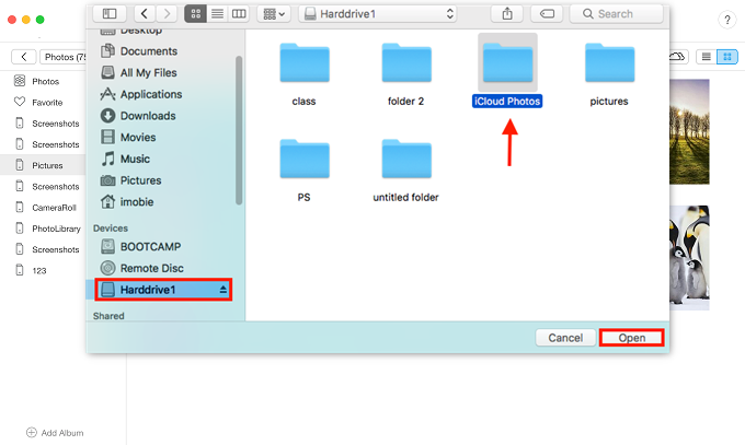 Transfer Selected Photos to External Hard Drive