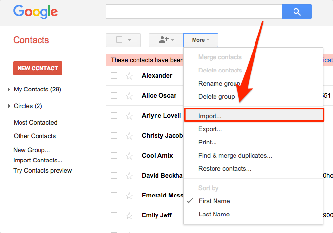 Import Contacts to iPhone Contacs or Gmail