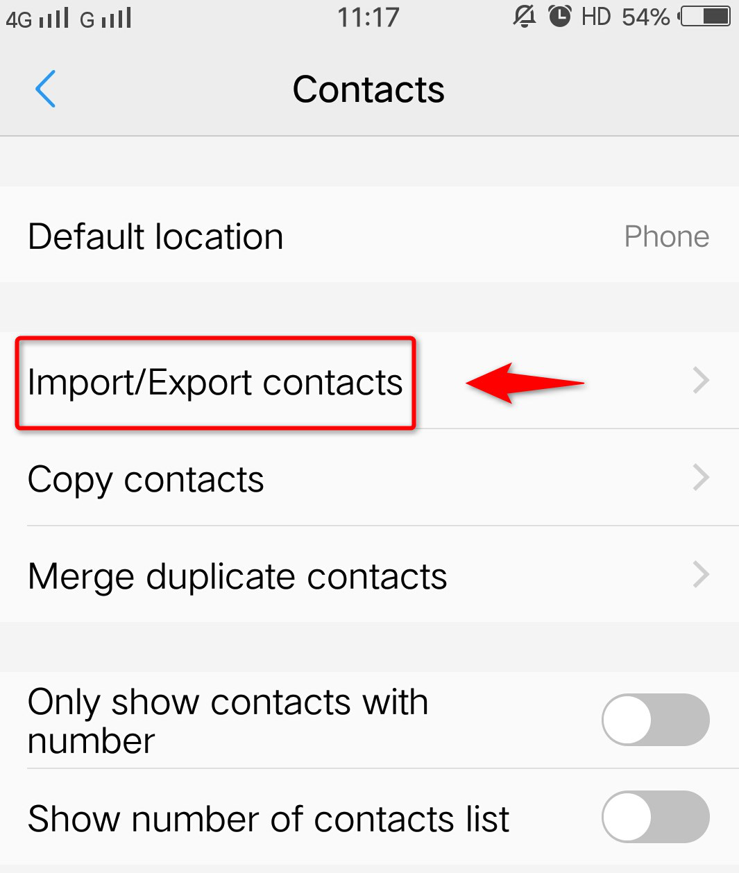 How to Transfer Contacts from iPhone to Android with AnyTrans - Step 3