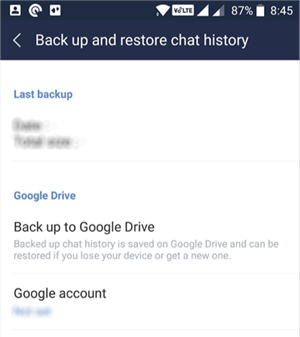 Backup Line Chat History to Google Drive