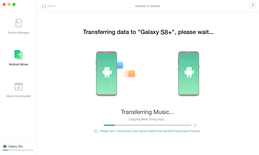 How to Transfer Music Between Android Devices – Step 4