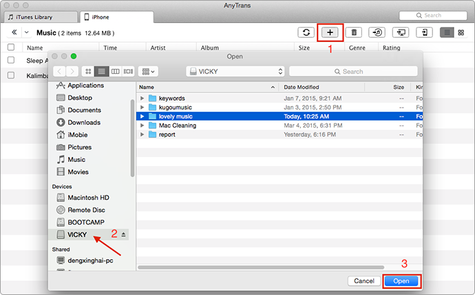 How to Transfer Music from Flash Drive or USB to iTunes – Step 2