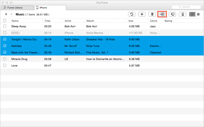 How to Transfer Music from Flash Drive or USB to iTunes – Step 3