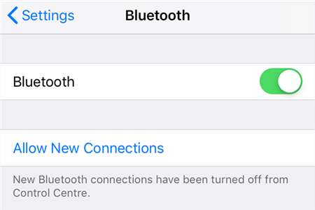 Enable Bluetooth on iPhone