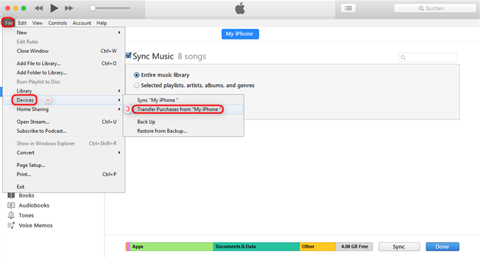 How to Transfer Music from iPhone to Mac via iTunes