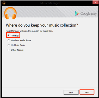 How to Get iTunes Music on Android Using Google Play Music – Step 3