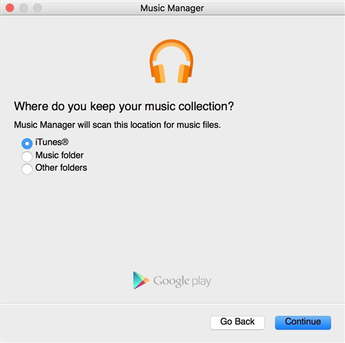 How to Transfer Music from iTunes to Google Play via Music Manager App - Step 2