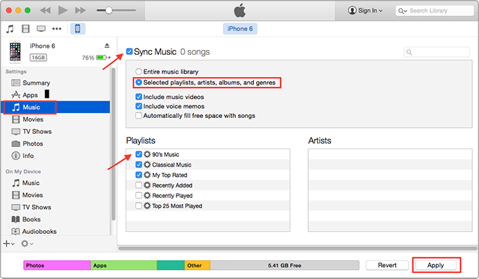 sync itunes to iphone how to transfer from itunes to iphone imobie inc 7055