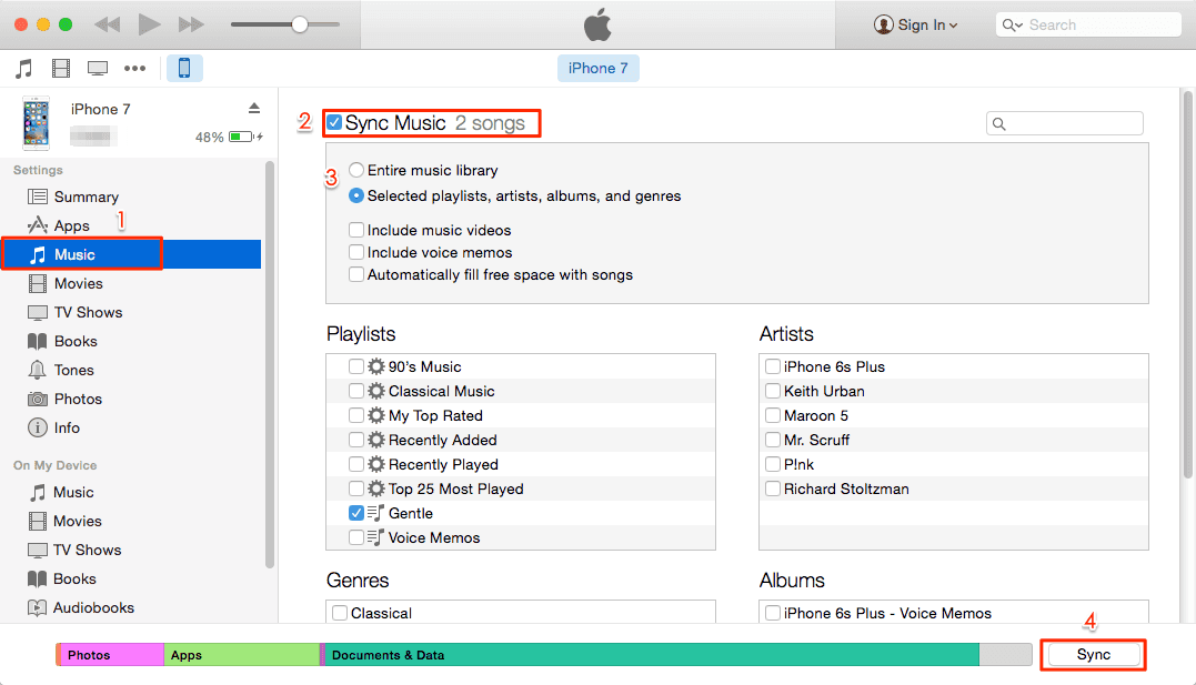 How to Transfer Music from Mac to iPhone with iTunes