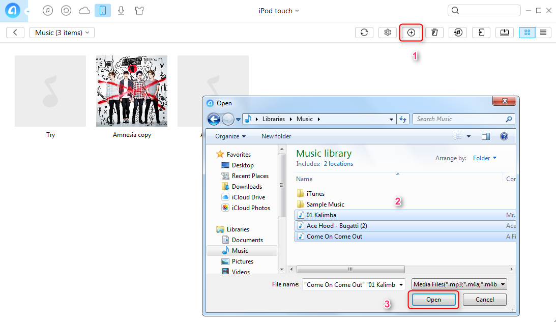 How to Transfer Music from PC to iPod/iPod touch – Step 2