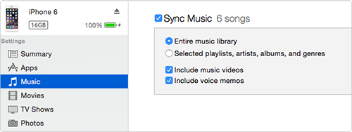 Sync Songs to iPhone 6 with iTunes