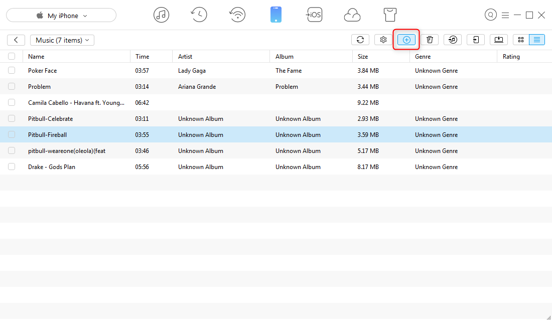 How to Transfer Music from Windows to iPhone – Step 2