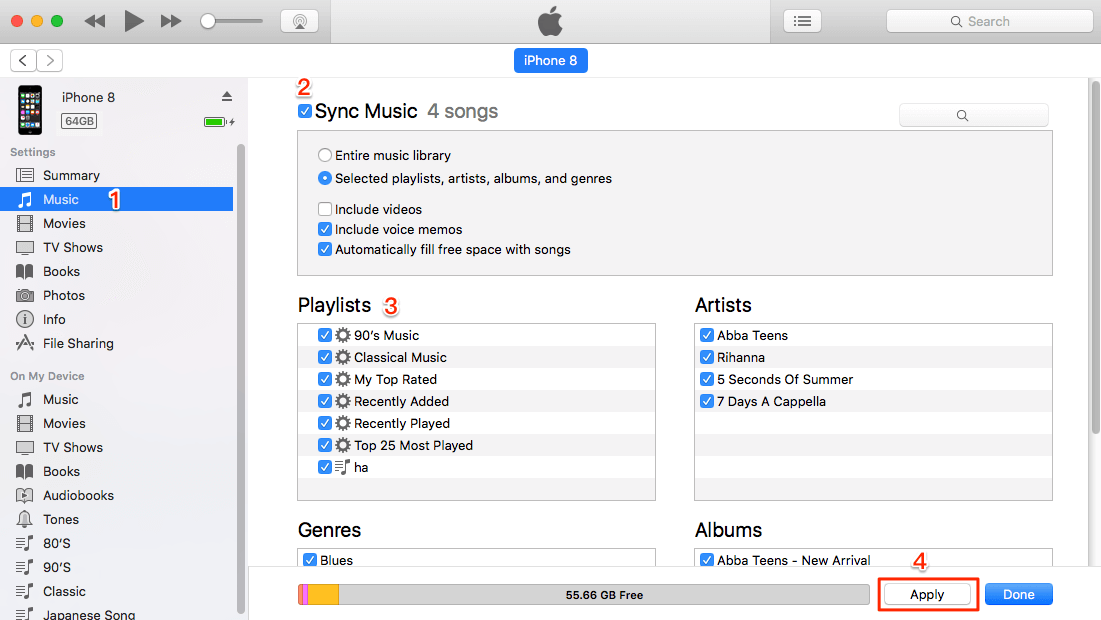 Put iTunes Music to iPod