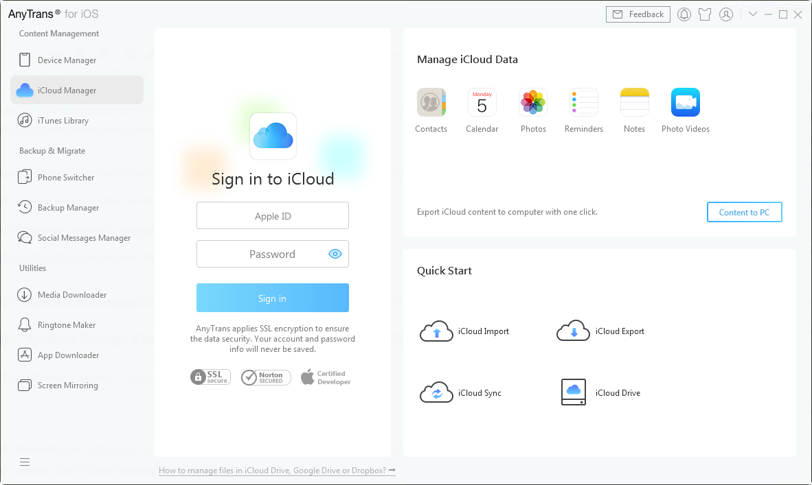 How to Transfer Notes from iCloud to iCloud – Step 1