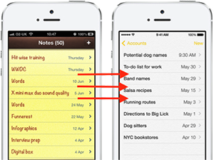 Move Notes from iPhone to iPhone