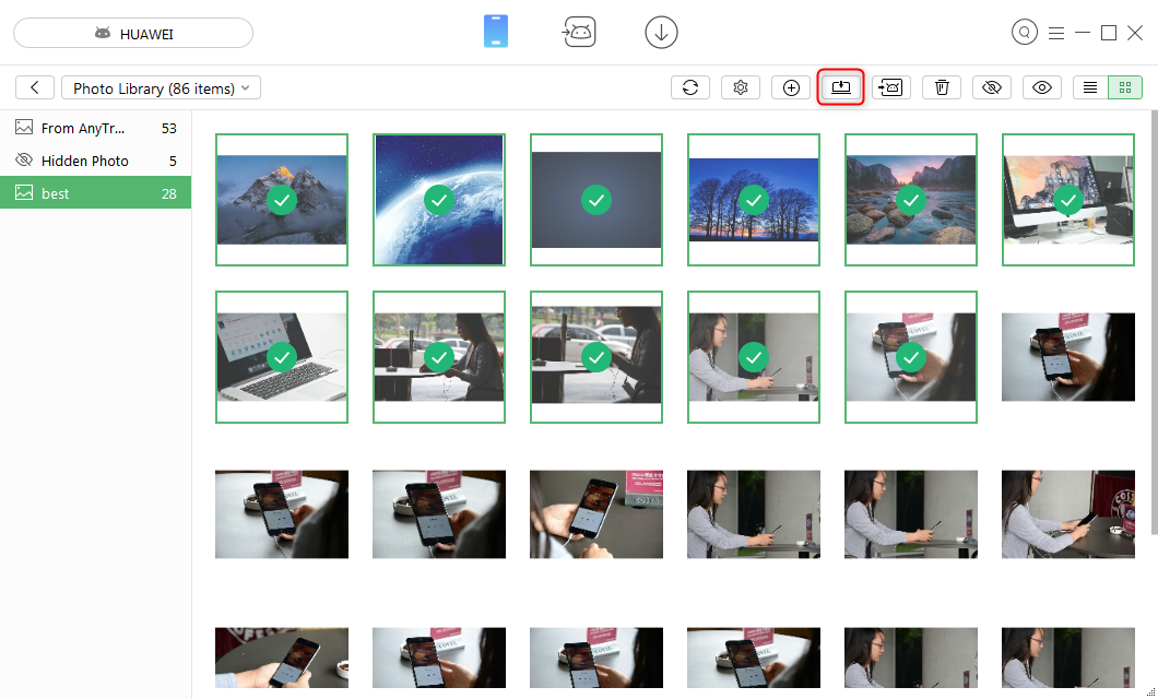 How to Transfer Photos from Android to Computer – Step 3